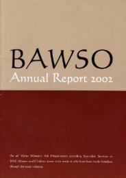 Annual Report 2002 - Bawso