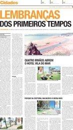 DOS PRIMEIROS TEMPOS - Novo Jornal