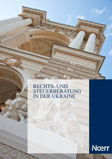 Rechts- und Steuerberatung in der Ukraine - Legal advice in Ukraine