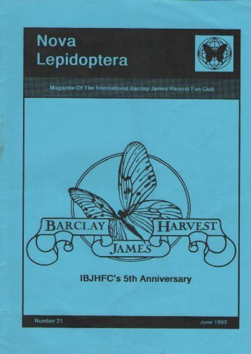 Nova Lepidoptera - Barclay James Harvest