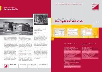 GridCode Brochure - DIgSILENT