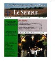 Volume 10 bulletin biannuelle automne 2012 - Fellowship of ...
