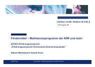 Fördermittel – Marktanreizprogramm der KfW und ... - GGSC Seminare