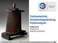 Vorstellung des Leistungsspektrums Turbinentechnik - TÜV Süd