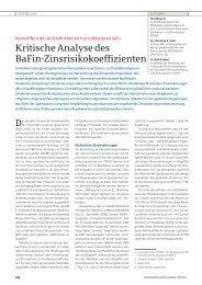 Kritische Analyse des BaFin-Zinsrisikokoeffizienten - Dr. Sievi