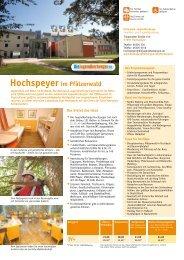 Hochspeyer im Pfälzerwald - Jugendherberge