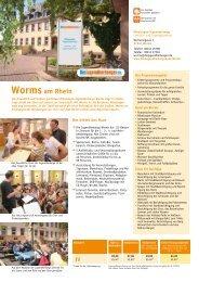 Worms am Rhein - Jugendherberge