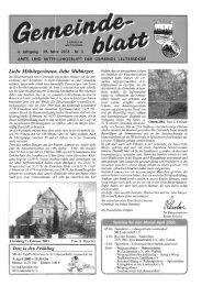 6. Jahrgang - 28. März 2003 - Nr. 3 - Leutersdorf