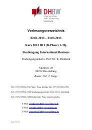 IB I 2012 1. Hj. - DHBW Ravensburg