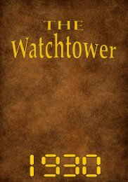 TheWATCH TOWER - Watchtower Archive