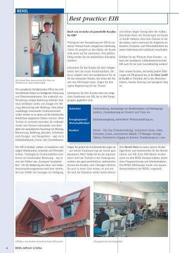 Best practice: EIB - Deutsche Elektro Gruppe