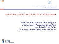 Kooperative Organisationsmodelle im Krankenhaus