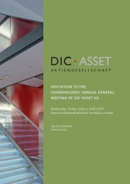 invitation to the shareholders' annual general meeting of dic asset ag