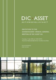 DIC Asset Invitation to the Shareholders' Meeting - DIC Asset AG
