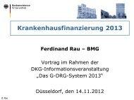 Finanzierung Krankenhäuser 2013