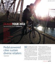 DealerTour 2012 - Bicycle Retailer and Industry News