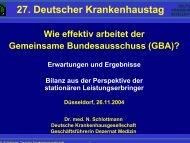 Dr. N. Schlottmann, Deutsche Krankenhausgesellschaft