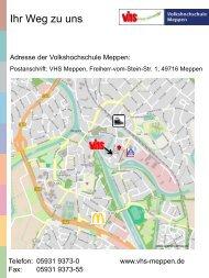 VHS Meppen: Anfahrt und Parken (214,2 KB - Volkshochschule ...