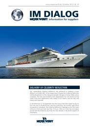 DELIVERY OF CELEBRITY REFLECTION - Meyer Werft
