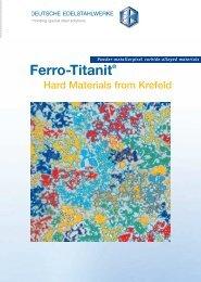 Ferro-Titanit - DEW-STAHL.COM
