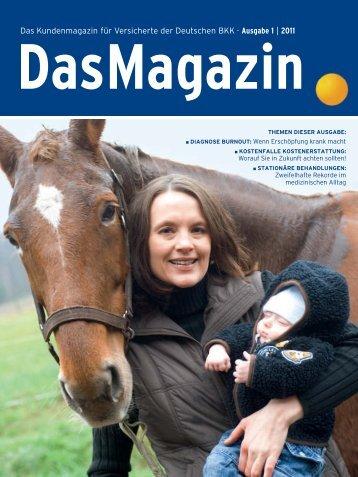 Das Magazin 1|2011 (PDF, 3.1 MB) - Deutsche BKK