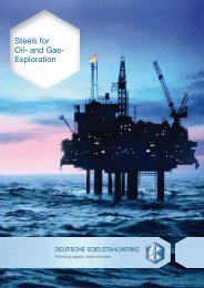 Steels for Oil- and Gas- Exploration  - DEW-STAHL.COM