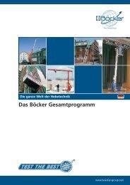 Technische Daten - Albert Böcker GmbH & Co. KG