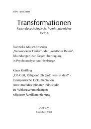 Transformationen - Deutsche Gesellschaft für Pastoralpsychologie ...