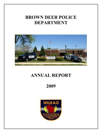 A 2009 Annual Report Cover - Village of Brown Deer