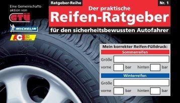 Der praktische Reifen-Ratgeber, 3. Auflage - GTÜ