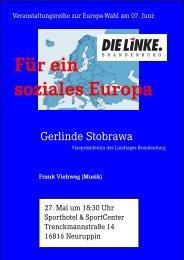 Für ein soziales Europa - Die Linke. Brandenburg