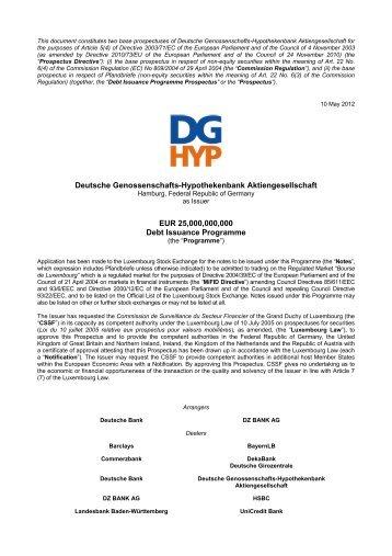 Debt Issuance Programme - DG Hyp