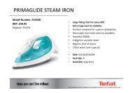 primaglide steam iron - CR Agencies Quality Gifts and Homewares