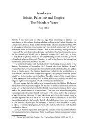 Britain, Palestine and empire: the mandate Years - Ashgate