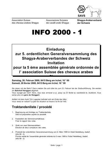 INFO 2000 - 1 2000 - 1