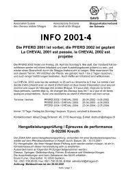 """Ã""""nderungen im Pferdebestand 2001 Changements ... - Shagya-Online"""