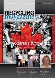Abecedarian Recycling - RECYCLING magazin