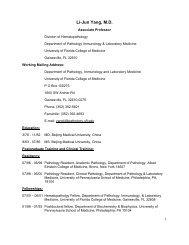Li-Jun Yang, M.D. - Department of Pathology, Immunology and ...
