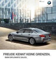 FreuDe kennt keine grenzen. BMW DiploMatic SaleS. - diplomaten.net