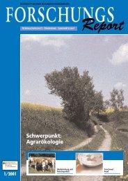ForschungsReport 2001-1 - BMELV-Forschung