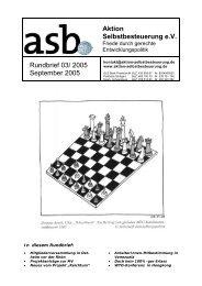 Aktion Selbstbesteuerung e.V. Rundbrief 03/ 2005 September 2005