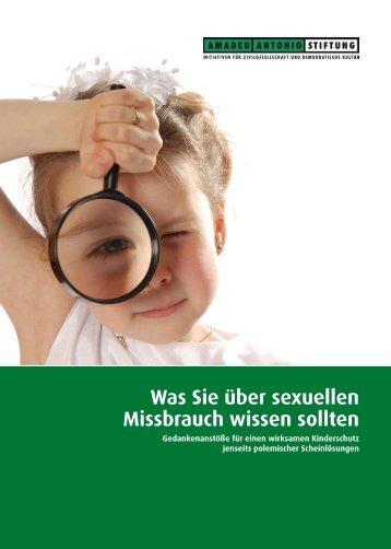 Was Sie über sexuellen Missbrauch wissen sollten - Amadeu ...