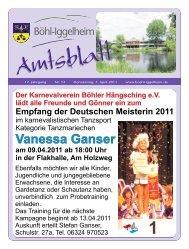 Amtsblatt vom 07.04.2011 - Gemeinde Böhl-Iggelheim