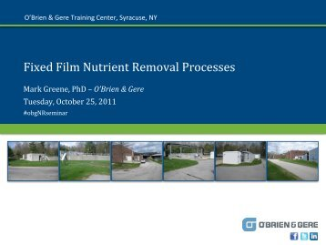 Fixed Film Nutrient Removal Processes - O'Brien & Gere