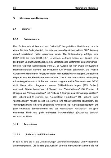 Material und Methoden 60 3.1 Material 3.1.1 Probenmaterial Das ...