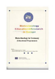 Network for European Biotechnology Education - VBio