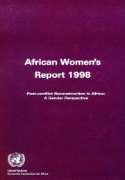 African Womens Report 1998 Post conflict Reconstruction in