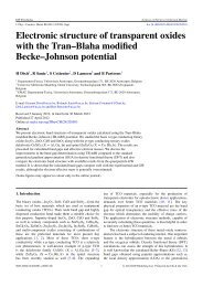 Electronic structure of transparent oxides with the Tran - EMAT ...