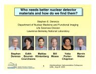 Who needs better nuclear detector materials and how do we find ...