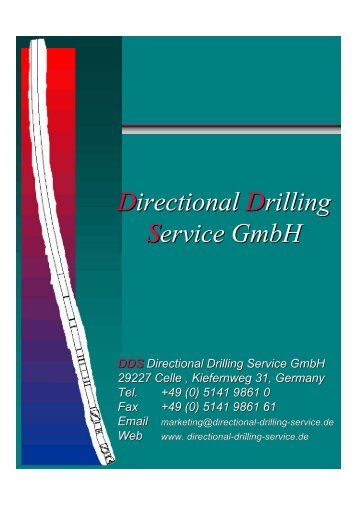 Directional Drilling Service GmbH - DDS: Directional Drilling Service ...
